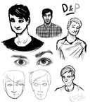Dan And Phil Sketches / Face Study by MartyOfLungbarrow