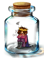 Lovino in a bottle meme by x-Lilou-chan-x