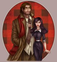 Bigby and Snow by CourtneyTrowbridge