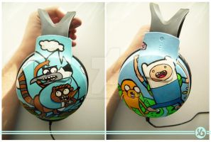 Adventure Time x Regular Show Headphones by Viagraphics
