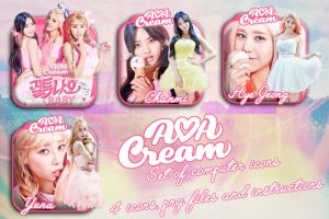 AoA Cream Icons by MissCatieVIPBekah