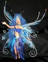 Mitra, a Blue Fairy Doll by jardan