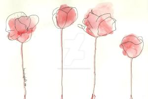 Poppies by hannahisabelle