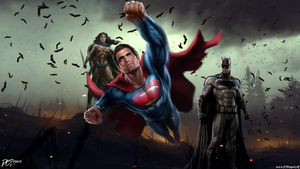 Batman V Superman Dawn Of Justice Trinity by Davian-Art