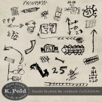 Doodle photoshop brushes My notebook by Leopoldovna