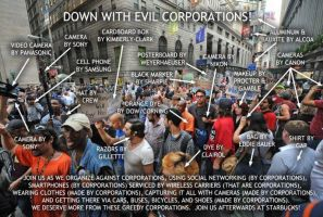 DOWN WITH EVIL CORPORATIONS by BluePhoenixx