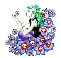 Blue death flowers by zeloco