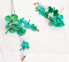 Lucky Trails. Shamrock pin. by hanatsukuri