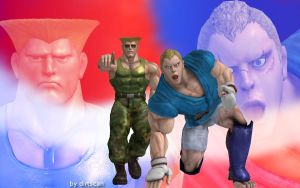 Abel and Guile by dirtscan