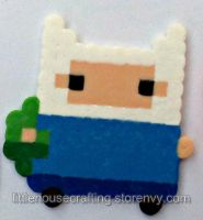 Adventure Time Finn Perler by LittleHouseCrafting