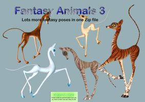 Fantasy Animals 3 PNG Stock Pack by Roy3D