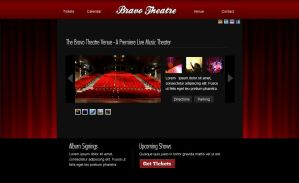 Bravo Theatre Web Design by montia