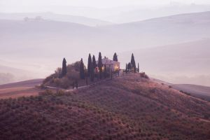 Val d'Orcia_7-Sunrise colorful by GioShot87