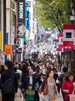 Harajuku Crowd East by SuperPope