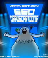 Happy Birthday SEODrawsCartoons 2015 by BluebottleFlyer