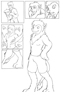Anthro Lion TF (Sketch comission) by Avianine