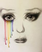 Every artist has a rainbow coloured drawing by Vondie