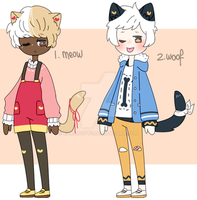 |CLOSED| cat and dog adopts by xaradopts