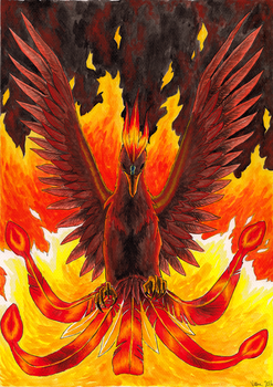 Phoenix in full power by VeeraP