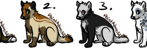Wolf Adoptables 1 - CLOSED by CreatureCreatingBabe