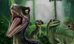 Velociraptors by WeaponX-Art