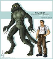 Guyver OC  Thunder Zoanoid lost number by Lucithea