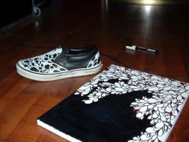 custom Vans sneakers by Vincentski