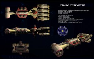 Cr-90 Correllian Corvette by unusualsuspex
