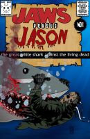 Jason versus Jaws bloody version by ibentmywookiee