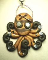 Steampunk Octopus Necklace by BlackMagdalena