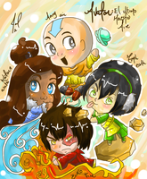 Avatar Aang The Last Airbender chibis by JamilSC11