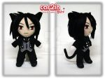 Chibi Sebastian with Cat Ears -- SOLD by car2in-bitz