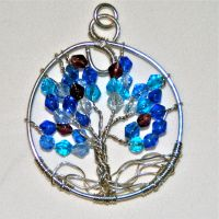Tree of Life Pendant in Blue by caerul