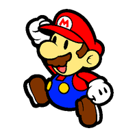 Paper Mario pixelated by OMGWEEGEE2