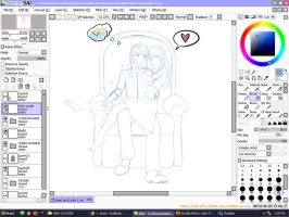 Lydia and Soerl WIP by TheCatlady