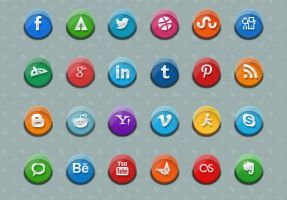 3D Social Media Icons by Grapigs