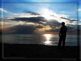 silhouette of a man by sman96