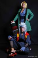 Jiraiya and Tsunade_ by JamieCool