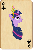 MLP Deck - Alternative Queen Of Clubs by Virenth
