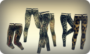 MMD RxNxD Printed Pants DOWNLOAD by RinXNeruXD