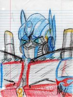 Optimus prime - crayon by MNS-Prime-21