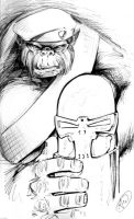 Monsieur Mallah and The Brain by AdamWithers