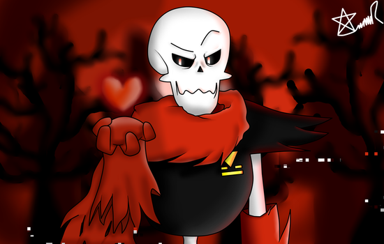 Underfell Papyrus by AnaLauRey14