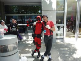 Fanime 2013 Deadpool and The Scout by Speedway66