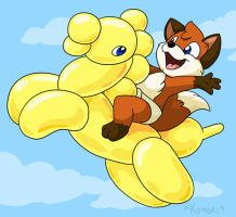 Commission- Balloon Rodeo by ChaosKomori