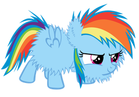 Fluffy Rainbow Dash Accurate Hair by Bronyboy