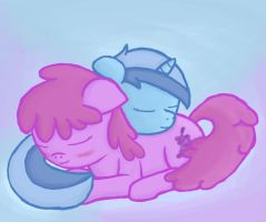 Colgate and Berry Sleeping by CaptainBritish