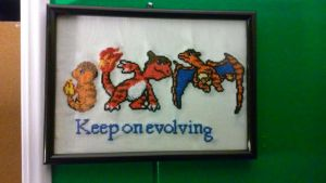 charizard in a frame by dottypurrs