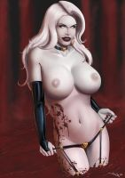 Commission: Lady Death Topless version by iurypadilha