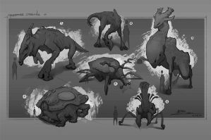 Creature designs 01 by ARTek92